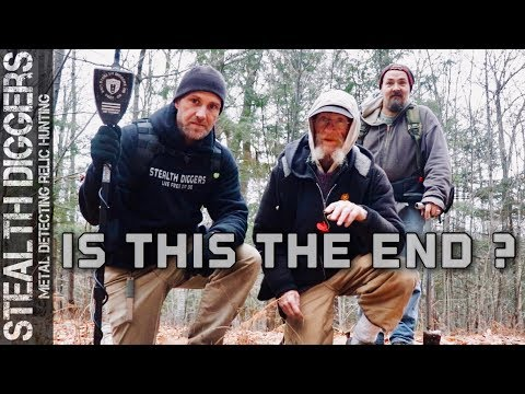 Is this the end ? #268 Metal detecting 1700s cellar holes in the woods of NH Garrett ATGOLD detector