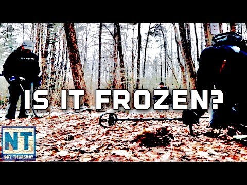 Winter ground check metal detecting in winter frozen ground –  Not Thursday #102 NH