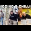 Digging & Chilling #272 Metal detecting a cellar hole in snow & hanging out at the stealth shack NH