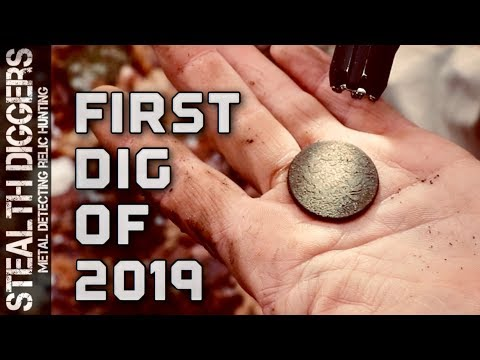 The first dig of 2019 metal detecting cellar holes #274 NH Relic hunting