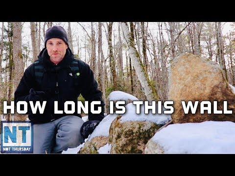 How long are these New England stone walls?  Not Thursday #116 hiking the old pasture NH MA history