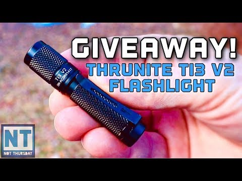 Giveaway ! Thrunite TI3 V2 flashlight win this free torch – Not Thursday #127 AAA 120 lumens