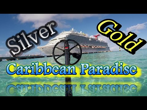 metal detecting gold and silver on Caribbean beaches