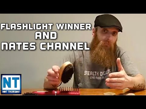 Giveaway winner of the Thrunite flashlight & Nates youtube channel   Not Thursday #132