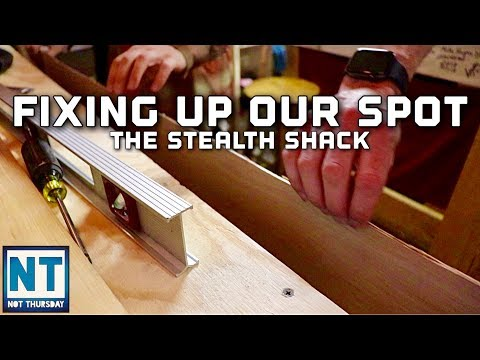Our youtube film studio fix up – Not Thursday #134 Stealth Diggers stealth shack rebuild