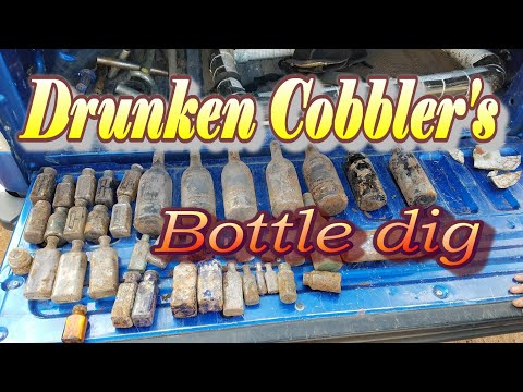 Digging antique bottles from the drunken cobbler