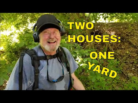 Metal Detecting Two Old Houses In One Yard!