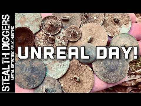 Record breaking best day ever for us metal detecting this untouched site in New Hampshire