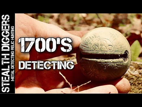 We stumbled upon a great 1700s site metal detecting