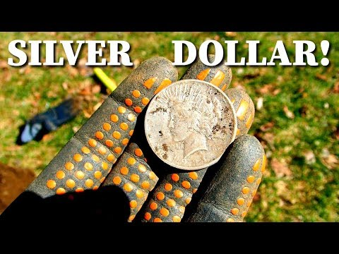 Found Silver Dollar and Huge Bell While Metal Detecting Old House Site!