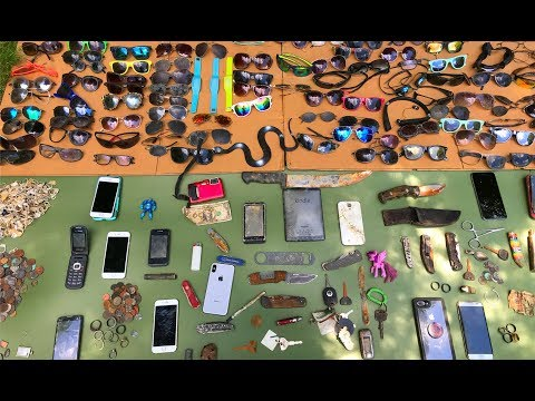 2018 River Finds! – iPhones, Wedding Rings, Knives, Gold Jewelry, and Sunglasses! | Nugget Noggin