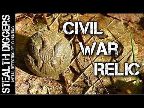 Civil war general service coat button found metal detecting in NH