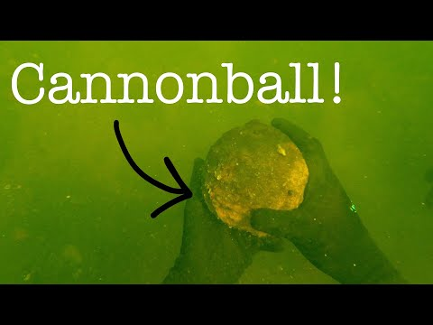 CANNONBALL Found In The River While Metal Detecting!