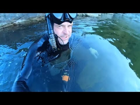 Free Diving And Exploring The River