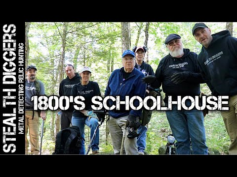 1800's Schoolhouse dig a great metal detecting day preserving relics