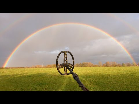Metal Detecting Under The Rainbow – Found Hammered Silver Coin!