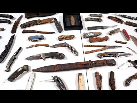 I Found All These Knives While Metal Detecting! (My Collection)