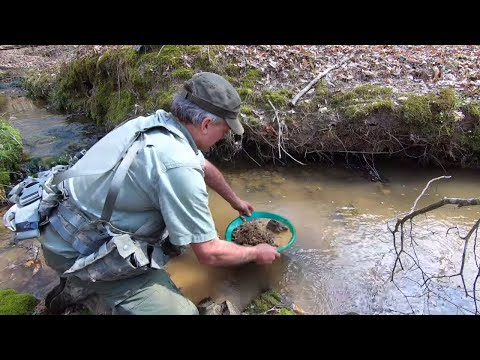 Prospecting For Gold With A Gold Pan