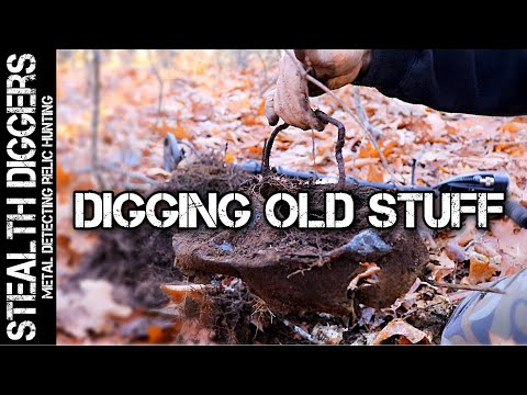 Metal detecting old homesites cellars Hiking in the hills of NH